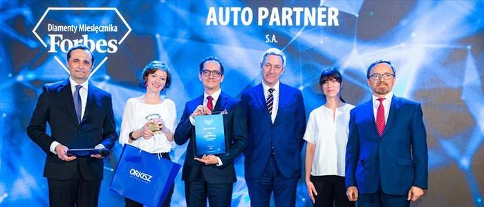 wyróznienie dla Auto Partner - Diamenty Forbesa